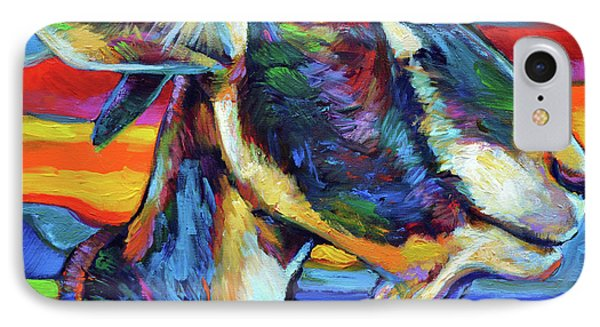 IPhone Case featuring the painting Farm Goat by Robert Phelps