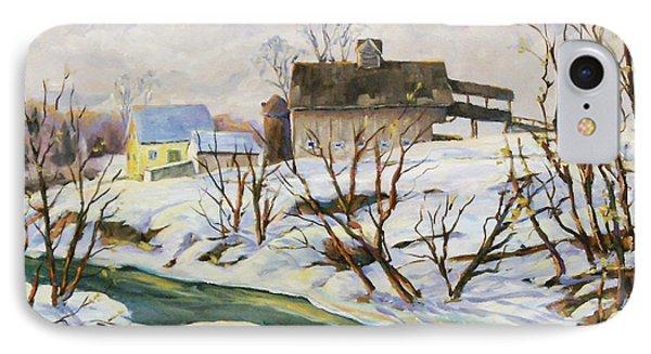 Farm In Winter Phone Case by Richard T Pranke