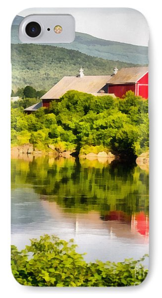 Farm Landscape Painting IPhone Case by Edward Fielding