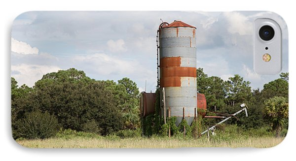 Farm Life - Retired Silo IPhone Case by Christopher L Thomley