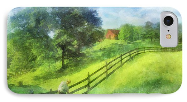 Farm On The Hill IPhone Case by Francesa Miller