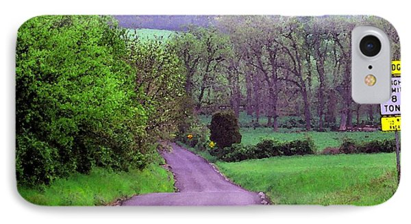 IPhone Case featuring the photograph Farm Road by Susan Carella
