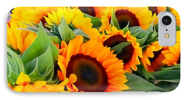 Farm Stand Sunflowers #8 IPhone Case by Ed Weidman