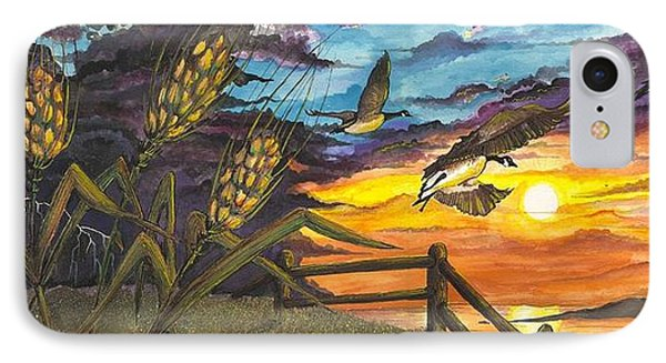 Farm Sunset IPhone Case by Darren Cannell