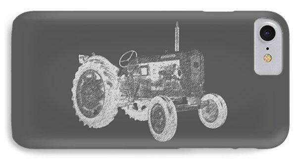 Farm Tractor Tee IPhone Case by Edward Fielding