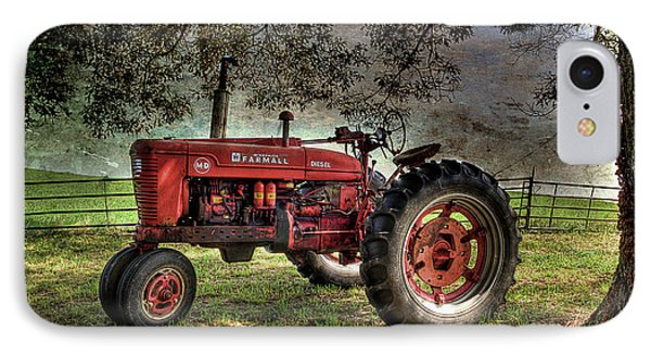 Farmall In The Field IPhone Case by Michael Eingle