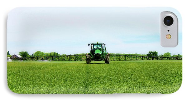 Farmer And Tractor IPhone Case by Anthony Djordjevic