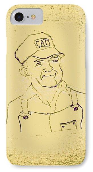 Farmer In Cat Hat Phone Case by Sheri Buchheit