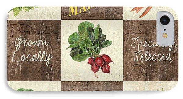 Carrot iPhone 7 Case - Farmer's Market Patch by Debbie DeWitt