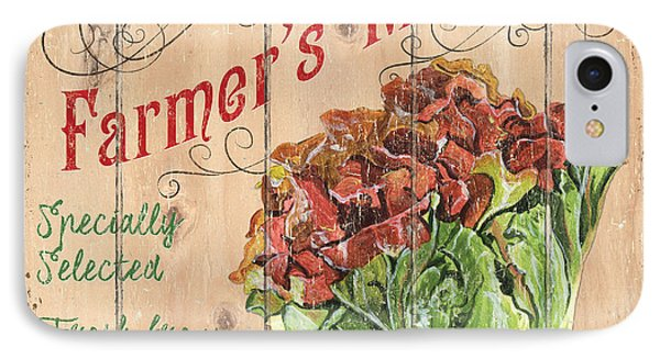 Farmer's Market Sign IPhone 7 Case by Debbie DeWitt