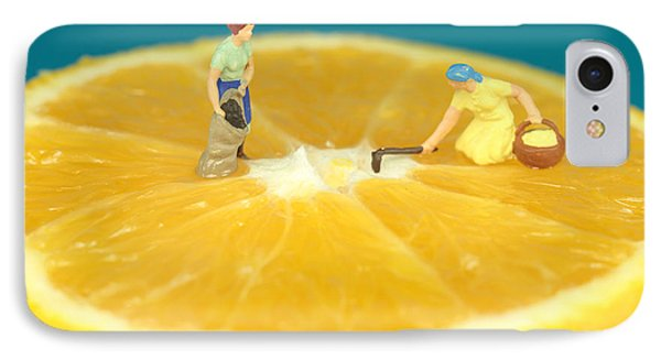 Farmers On Orange Phone Case by Paul Ge