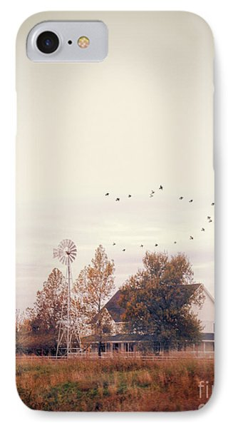 IPhone Case featuring the photograph Farmhouse And Windmill by Jill Battaglia