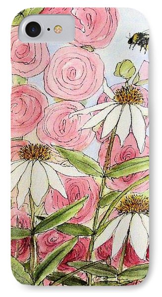 IPhone Case featuring the painting Farmhouse Garden by Laurie Rohner