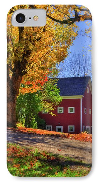 Farmhouse In Autumn - South Royalton, Vt IPhone Case by Joann Vitali