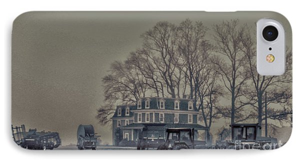 Farmhouse In Morning Fog IPhone Case by Sandy Moulder
