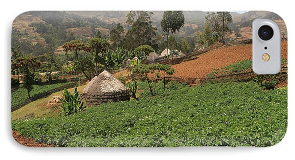 Farming Communities, Guge Mountains, Ethiopia IPhone Case by Aidan Moran