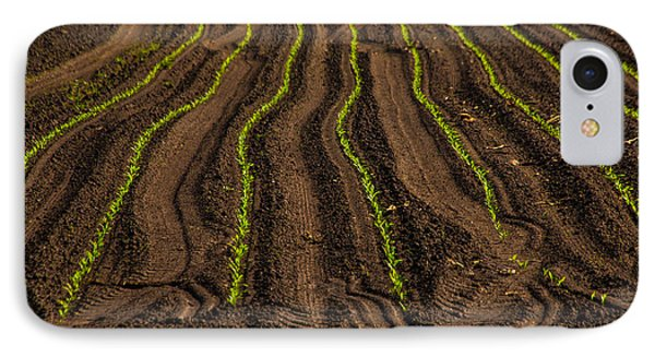 Farming Lines IPhone Case by Karol Livote