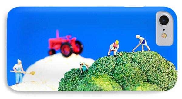 Farming On Broccoli And Cauliflower II Phone Case by Paul Ge