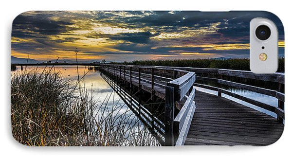 Farmington Bay Sunset - Great Salt Lake IPhone Case by Gary Whitton