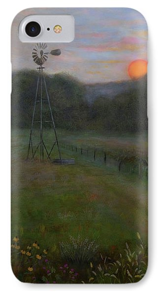 IPhone Case featuring the painting Farmland Peace by Nancy Lee Moran