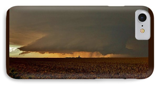 IPhone Case featuring the photograph Farmland Supercell by Ed Sweeney