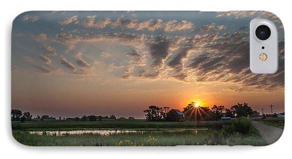 Farmstead Sunrise IPhone Case by Dan Traun