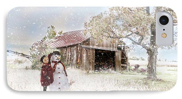 Farmstyle Snowman IPhone Case