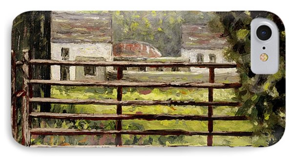 Farmyard Gate IPhone Case by John  Nolan