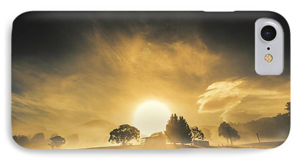 Farmyards And Silhouettes IPhone Case by Jorgo Photography - Wall Art Gallery