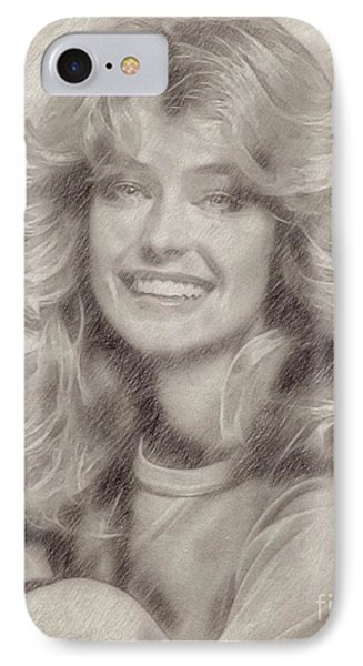 Farrah Fawcett Hollywood Actress IPhone Case by Frank Falcon