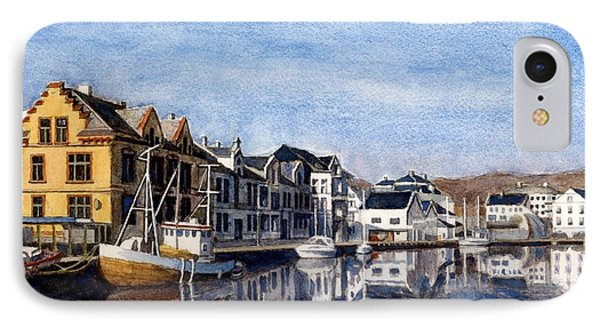 Farsund Dock Scene 2 IPhone Case by Janet King