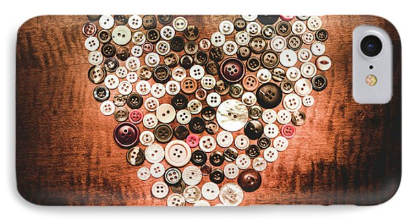 Fashion Button Love IPhone Case by Jorgo Photography - Wall Art Gallery