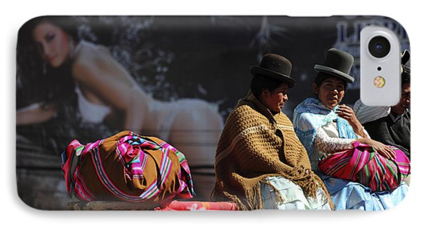 Fashion Contrasts In Bolivia IPhone Case by James Brunker
