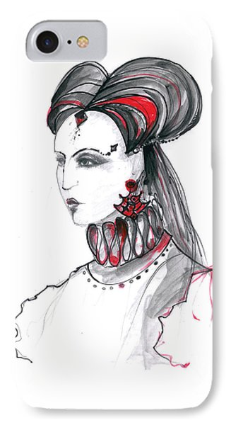 Fashion Illustration In Watercolor IPhone Case