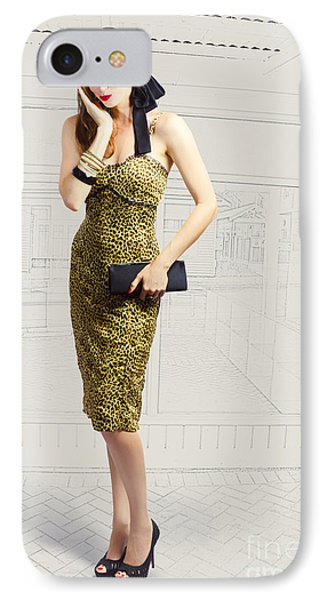 Fashion Photo Illustration IPhone Case by Jorgo Photography - Wall Art Gallery