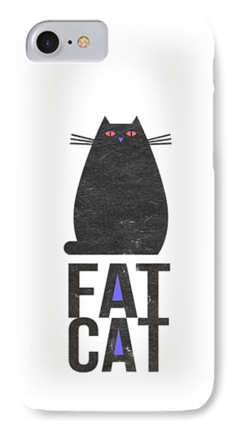 Fat Cat IPhone Case by Edward Fielding