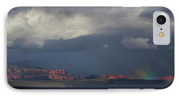 IPhone Case featuring the photograph Fat Ground Rainbow, Red Rocks Sedona by Ron Chilston