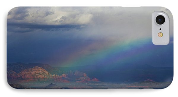 IPhone Case featuring the photograph Fat Rainbow, Sedona Az by Ron Chilston