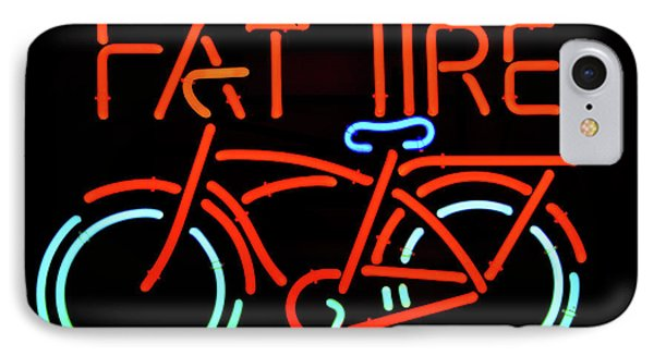 Fat Tire Neon Beer Sign IPhone Case