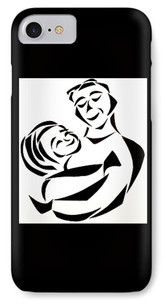 Father And Child IPhone Case by Delin Colon