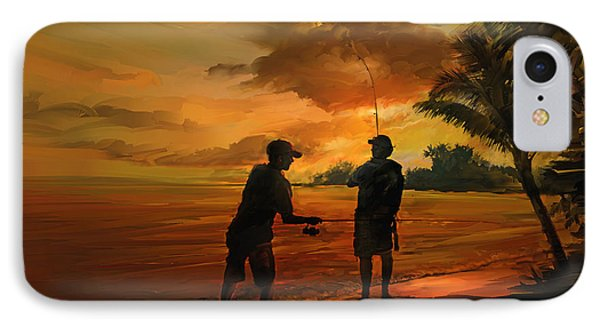 Father And Son Fishing IPhone Case