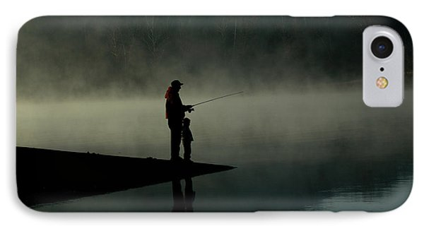Father And Son Fishing Phone Case by Shawn Wood