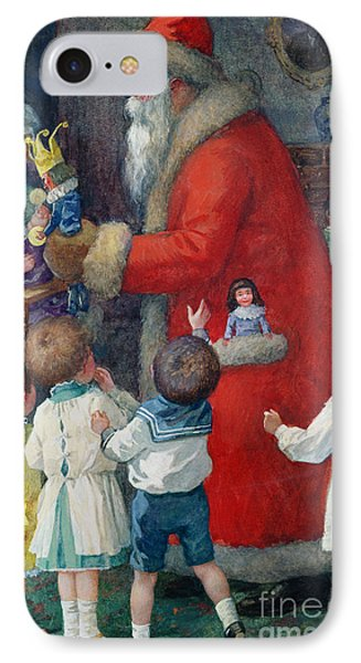 Father Christmas With Children IPhone Case
