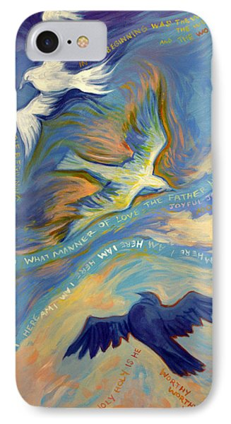 Father Son And Holy Spirit Phone Case by Jill Iversen