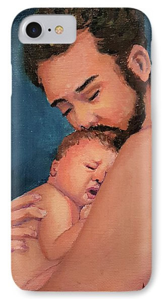 Fatherhood IPhone Case by Janet Garcia