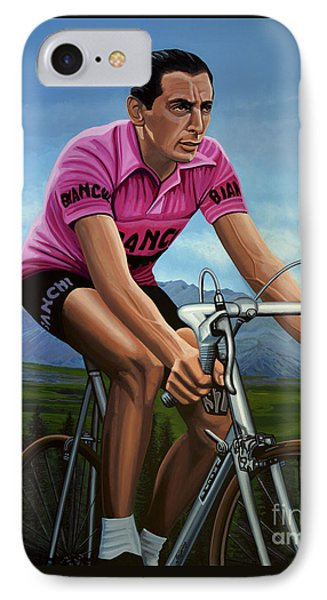 Fausto Coppi Painting IPhone Case