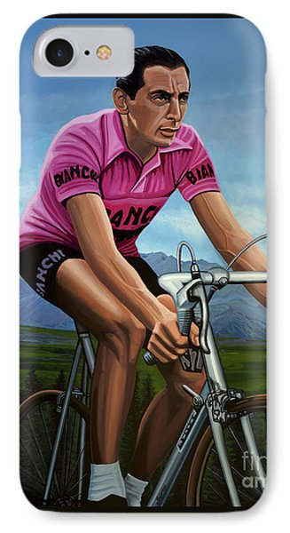 Fausto Coppi Painting IPhone Case by Paul Meijering