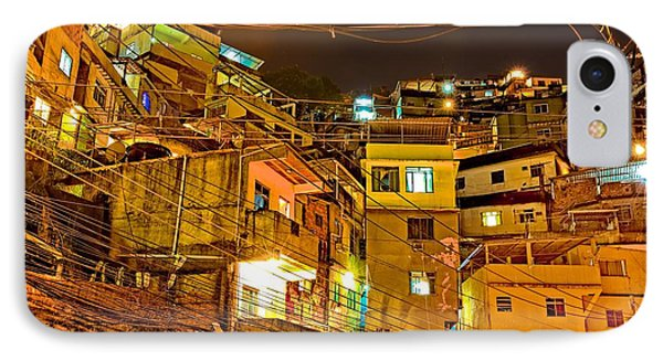 IPhone Case featuring the photograph Favela Night by Kim Wilson