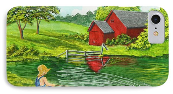 Favorite Fishing Hole Phone Case by Charlotte Blanchard