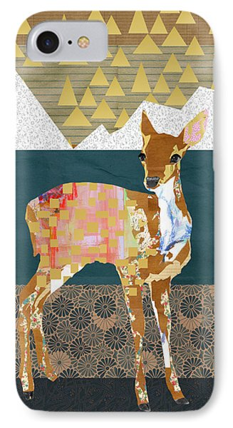 Fawn Collage IPhone Case by Claudia Schoen